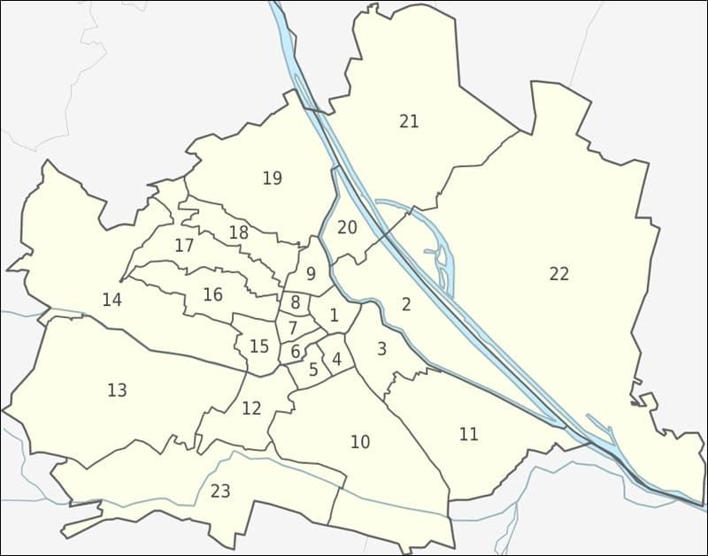 Районы Вены. Где остановиться в Вене