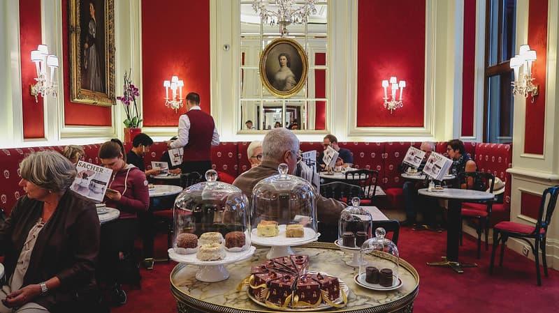 Кафе Sacher в Вене